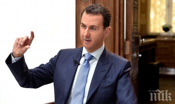 Президентът на Сирия: Правителствените войски се движат стабилно към победата