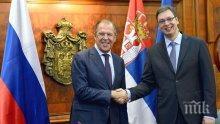 Президентът на Сърбия увери Сергей Лавров, че страната не се стреми да стане член на НАТО