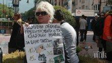Вегани протестират пред Министерски съвет, искат оставката на Румен Порожанов