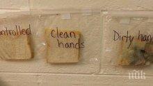 Учителски експеримент показва колко е важно да се мият ръцете