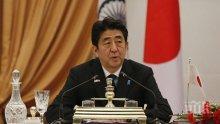 Японският премиер отсече, че времето за диалог със Северна Корея е приключило