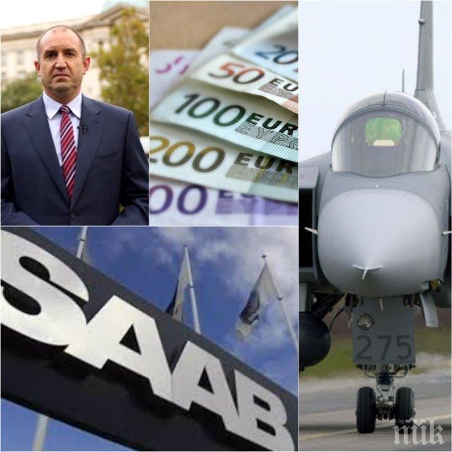 """ШОКИРАЩИ РАЗКРИТИЯ! Сделките с """"Грипен""""-ите на Радев оплетени в лобизъм и подкупи - скандали с компанията СААБ в Чехия, Румъния и ЮАР"""