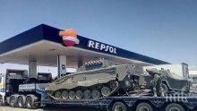 Каталуния в паника от испански танкове (СНИМКИ)