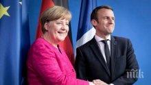 Еманюел Макрон е готов на съществено сътрудничество с Германия след победата на Меркел