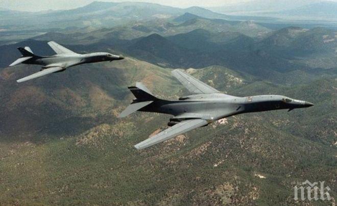 Напрежението ескалира! Американски бомбардировачи прелетяха до Северна Корея