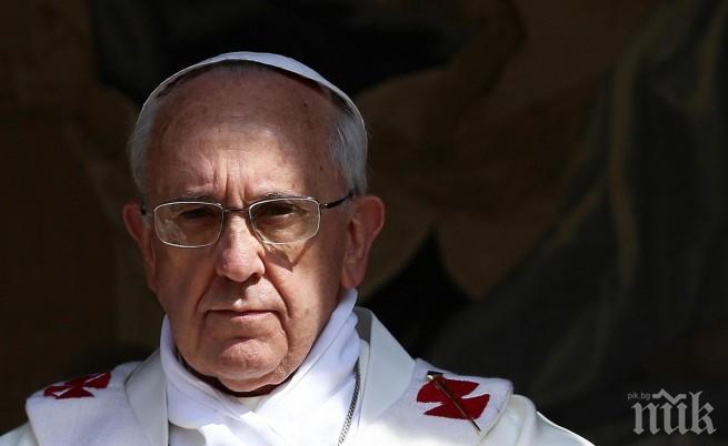 Папа Франциск обеща възможно най-строги мерки срещу педофилите в клира