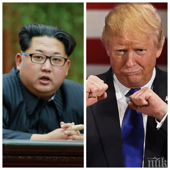 ГОРЕЩА ТЕМА! Човекът-ракета от Пхенян избухна! Ким Чен-ун нападна гневно Тръмп: Ще подчиня побъркания изкуфял старец с огън