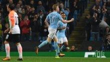 Де Бройне и Стърлинг донесоха втора победа за Манчестър Сити