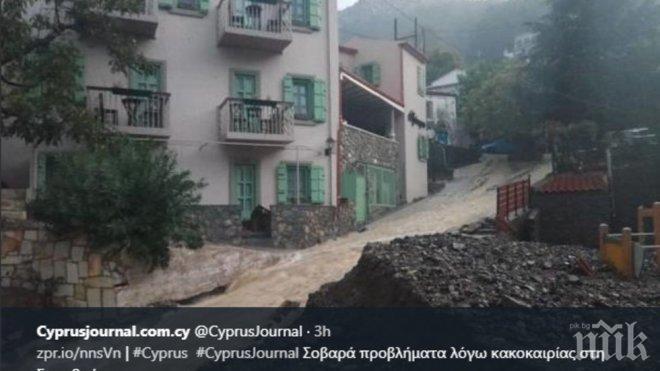 Ужас на Самотраки! Наводнения и свлачища удариха гръцкия остров (ВИДЕО)