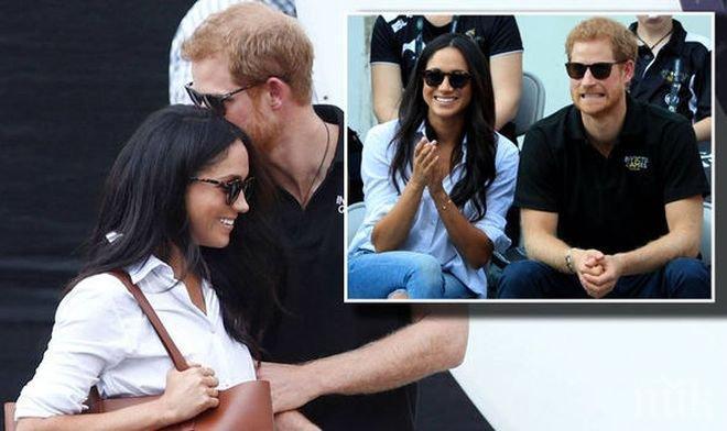 Любов! Принц Хари целува любимата си насред Торонто (СНИМКИ)