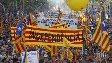 Сблъсъци между полиция и протестиращи в Каталония