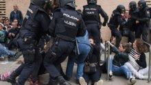 Над 800 души се нуждаят от медицинска помощ след сблъсъците между испанската полиция и поддръжниците на каталонската независимост