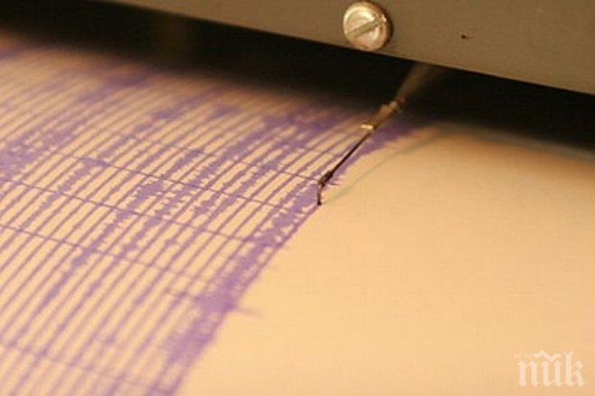 Земетресение в Средиземно море люшна Анталия