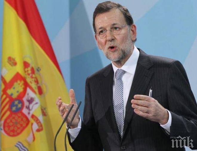 След референдума! Премиерът на Испания благодари на лидерите на страни от ЕС за подкрепата към Мадрид