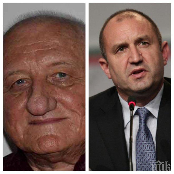 ЕКСКЛУЗИВНО В ПИК! Един от бащите на демокрацията Петко Симеонов скочи на Румен Радев: Езикът му няма нищо общо с политиката, казаното от него за битката е меко казано неприемливо