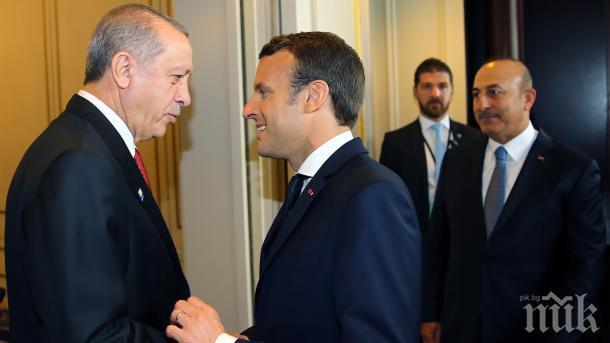 Ердоган и Макрон искат запазване на териториалния интегритет на Ирак и Сирия