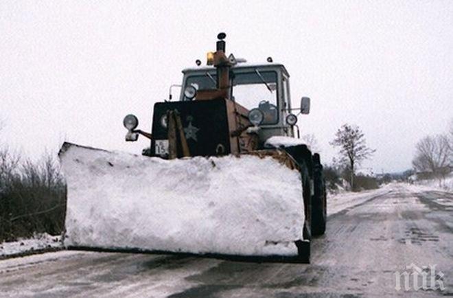 Екипи почистват сняг и отстраняват паднали клони на планинските пътища на Витоша