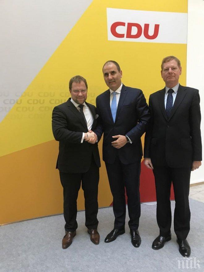 Бертил Венгер, ХДС: България и Борисов се утвърдиха като регионални и европейски лидери