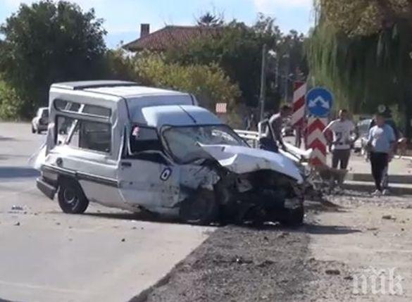 ТРАГЕДИЯ! Жената, загинала в катастрофата в Пловдив, навлязла в насрещното и нацелила джипа