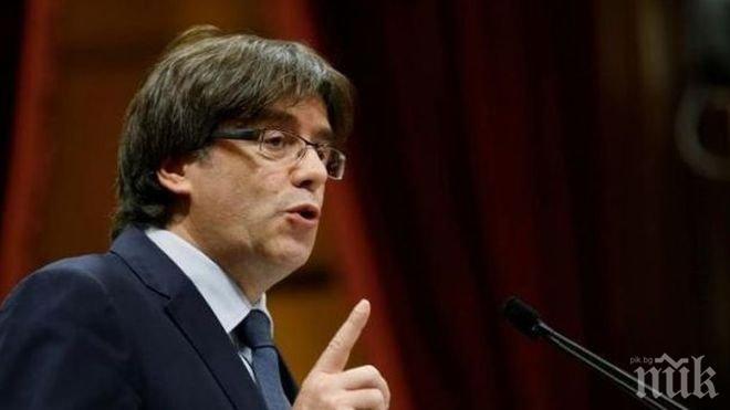 Карлес Пучдемон обвини испанския премиер в пренебрегване на желанието за преговори