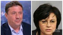 ЕКСКЛУЗИВНО! Явор Куюмджиев попиля Корнелия Нинова: В БСП всяко различно мнение се прекъсва с тотална атака, партията върви към разпад