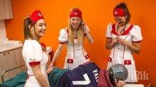 ПАЛАВНИЦА! Секссимволът на биатлона се снима като медицинска сестра