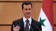 Башар Асад: Войната в Сирия не свършва с Дейр ез Зор