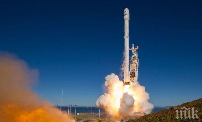 Инцидент! Двигател на ракетата на Space X се е взривил по време на изпитания