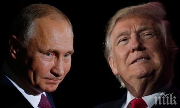 ГОРЕЩА СРЕЩА! Тръмп потупа приятелски Путин на срещата на АТИС