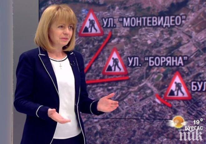 ГОРЕЩА ТЕМА! Фандъкова с нови разкрития за ремонтите в София! Има ли чадър над някои фирми