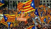 Огромен протест в Барселона в подкрепа на каталунските лидери