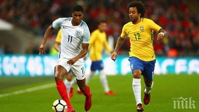 """Англия и Бразилия разочароваха с нулево реми на """"Уембли"""" (СНИМКИ)"""