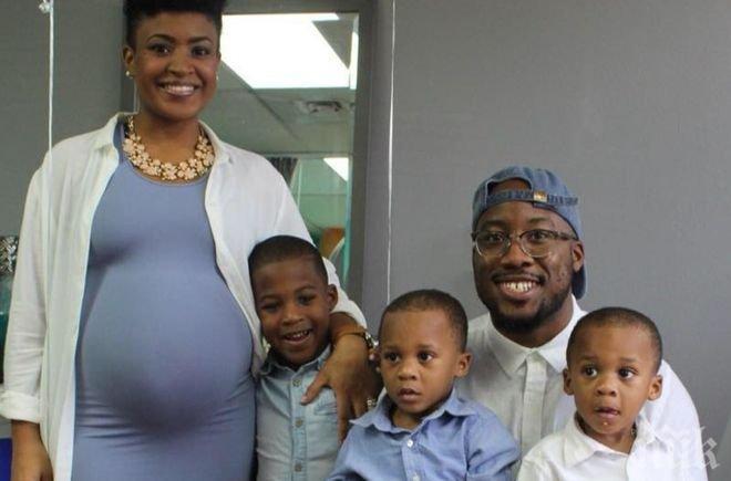 Пълна къща! Майка на 3 момчета от Мериленд очаква тризнаци-момичета