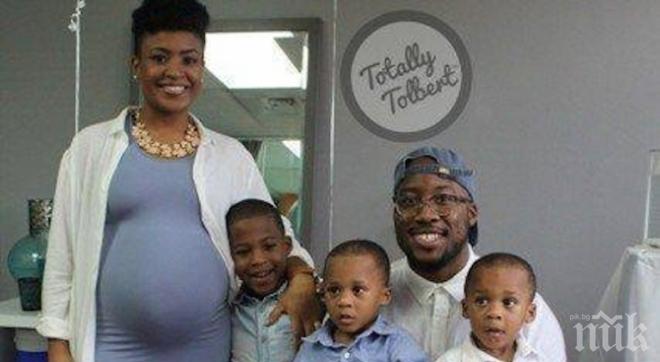 Майка на три момчета очаква тризнаци момичета
