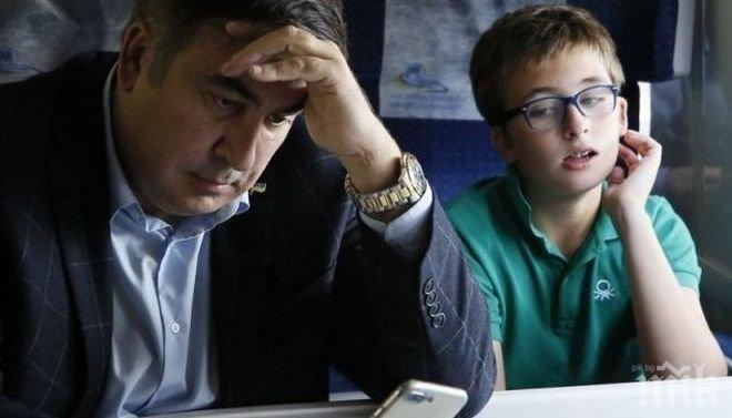 Задържаха сина на Саакашвили на летището в Киев