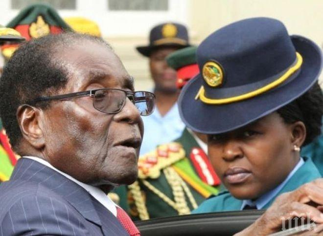 СТАВА КРИТИЧНО! Изстрели са чути близо до дома на президента на Зимбабве Роберт Мугабе