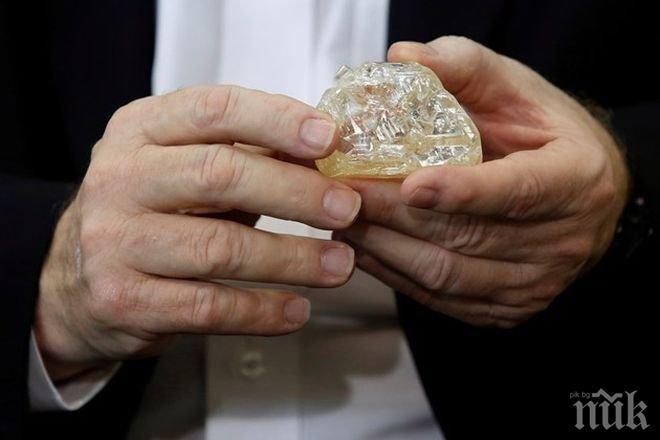 Откриха диамант с тегло 476 карата в Сиера Леоне
