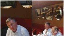 """ФОТОУДАР В ПИК! Олигархът Прокопиев не е в депресия! Пирува и пръска хилядарки в луксозен ресторант – забрави, че е """"запориран"""" и """"репресиран"""" (ПАПАРАШКИ СНИМКИ)"""
