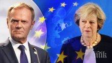 Тереза Мей ще се срещне с председателя на Европейския съвет Доналд Туск в Брюксел