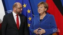 Ангела Меркел и Мартин Шулц търсят на решение на политическата безизходица