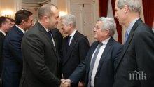 """Румен Радев: Полетът с """"Рафал"""" е сериозен подарък от президента Макрон"""