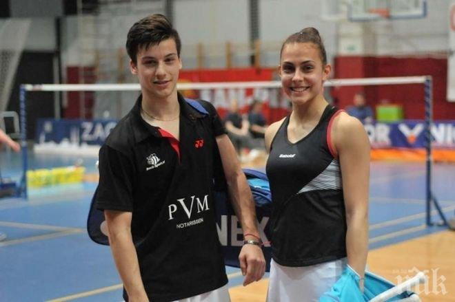 Алекс Влаар спечели бронзов медал на смесени двойки на турнир по бадминтон в Ирландия