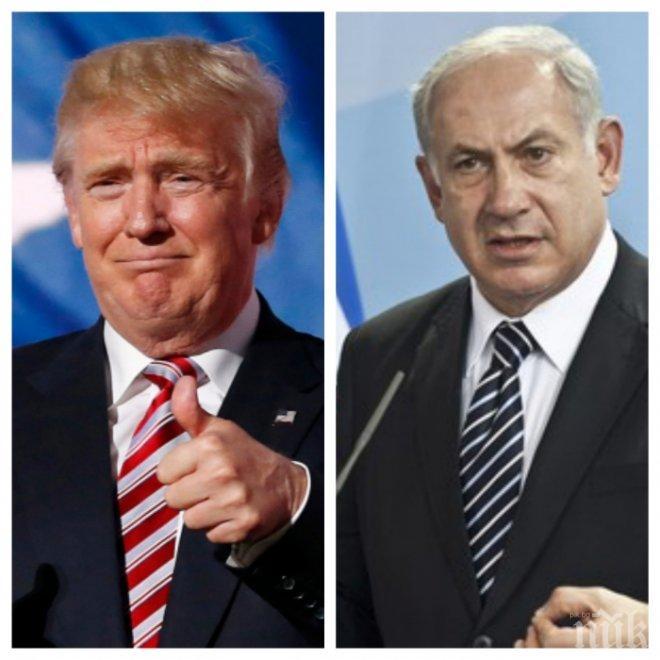 Израелският премиер доволен от решението на Тръмп, очаква и други да признаят Ерусалим