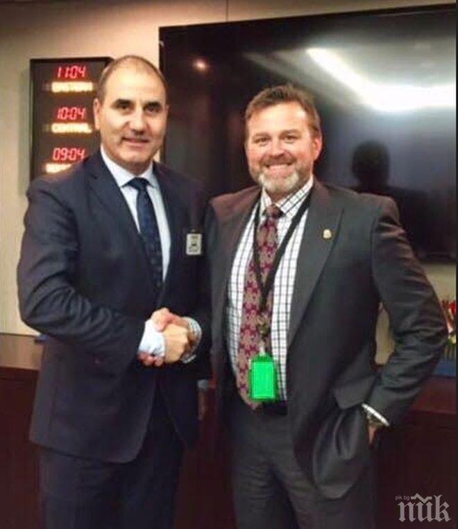 Цветанов е на работна среща в Агенцията за борба с наркотиците на САЩ