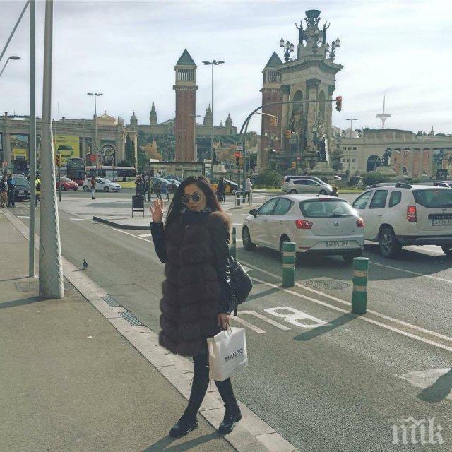 Татяна хукна на шопинг в Барселона