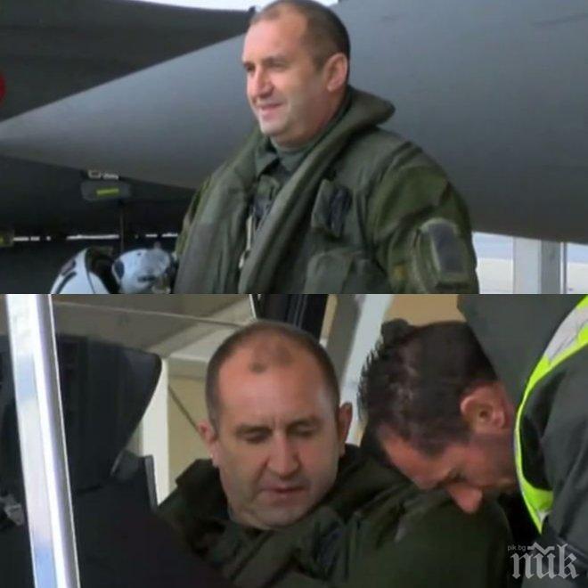 Румен Радев – панаирджийска мечка, летец или глава на нацията? Тежки въпроси след авантюрата на президента в небето над Париж