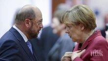 НАПРЕГНАТО ОЧАКВАНЕ! Ключова среща на Ангела Мекрел и Мартин Шулц, ще има ли коалиция