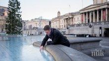 """Замръзна фонтанът на """"Трафалгар Скуеър"""" в Лондон (СНИМКИ)"""