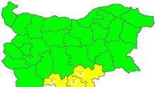 Предупреждение! Жълт код за значителни валежи от сняг е в сила за 3 области на страната днес