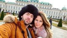 КОЛЕДНА ПРИКАЗКА! Наско Месечков и Кремена избягаха във Виена! А бебето им... (СНИМКИ)